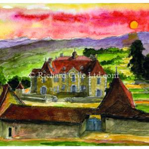 Sunset, Château de Longpra, Saint-Geoire-en-Valdaine.