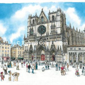 Cathédrale St Jean, Lyon.