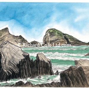 Gull Rock and Fisherman's Rock, Welcombe, N Devon.