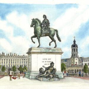 Place Bellecour, Lyon.