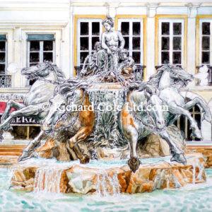 Fontaine Bartholdi, Place des Terreaux, Lyon.
