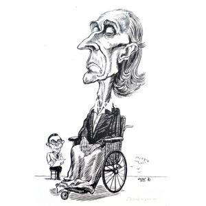 Frederick Delius & Eric Fenby. Original Cartoon.