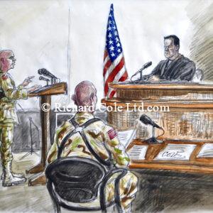 Abu Ghraib Courts Martial of American Soldiers. Baghdad, Iraq. 2004. CBS News.
