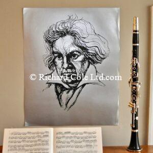 Beethoven, Large Silkscreen Poster print.